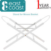 East Coast Stand For Moses Basket | Lightweight,Easy To Move,Foldable | Safe+Secure