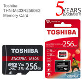 Toshiba Exceria M303 256GB U3 Class 10 MicroSDXC Memory Card with Adapter | 98MB/s | For Phone & Camera