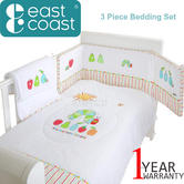 The Very Hungry Caterpillar 3 Piece Bedding Set | 100% Cotton Quilt,Bumper,Blankie