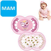 MAM Style Soother | Comfortable | Use Box As Steriliser & Travel Case | +12m | Pink | 2Pk