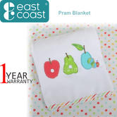 The Very Hungry Caterpillar Fruits Pram/Moses Basket Blanket | Gift For Newborn