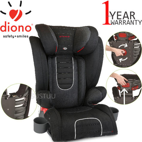 Diono Monterey 2 Group 2/3 Highback Booster Car Seat?Max Weight 15 To 36Kg | Black Thumbnail 1