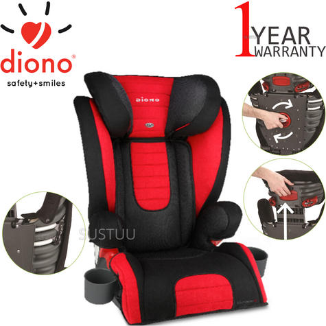 Diono Monterey 2 Group 2/3 Highback Booster Car Seat?Max Weight 15 To 36Kg | Red Thumbnail 1