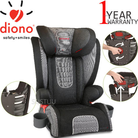 Diono Monterey 2 Group 2/3 Highback Booster Car Seat?Max Weight 15 To 36Kg | Shadow Thumbnail 1