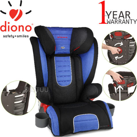 Diono Monterey 2 Group 2/3 Highback Booster Car Seat?Max Weight 15 To 36Kg | Blue Thumbnail 1