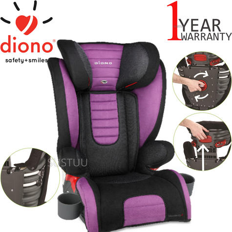 Diono Monterey 2 Group 2/3 Highback Booster Car Seat?Max Weight 15 To 36Kg | Purple Thumbnail 1
