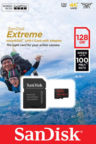 SanDisk 128GB Extreme Micro SDHC Memory Card & Adapter | 100MB/s | For Action Cameras Thumbnail 5