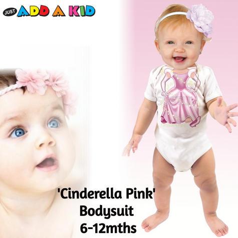 Just Add a Kid 'Cinderella Pink' Baby Short Sleeve Bodysuit | 100% Cotton | 6-12 Month Thumbnail 1