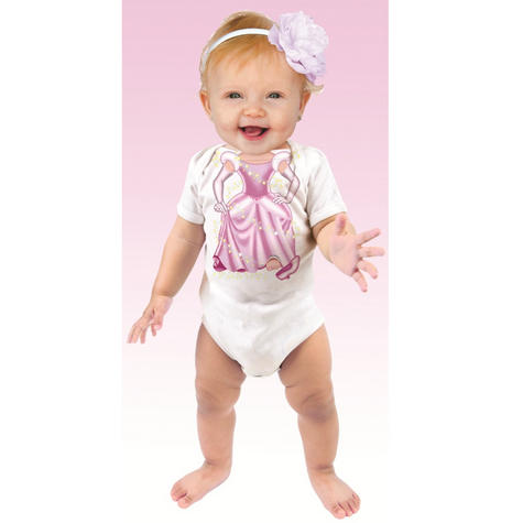 Just Add a Kid 'Cinderella Pink' Baby Short Sleeve Bodysuit | 100% Cotton | 6-12 Month Thumbnail 2