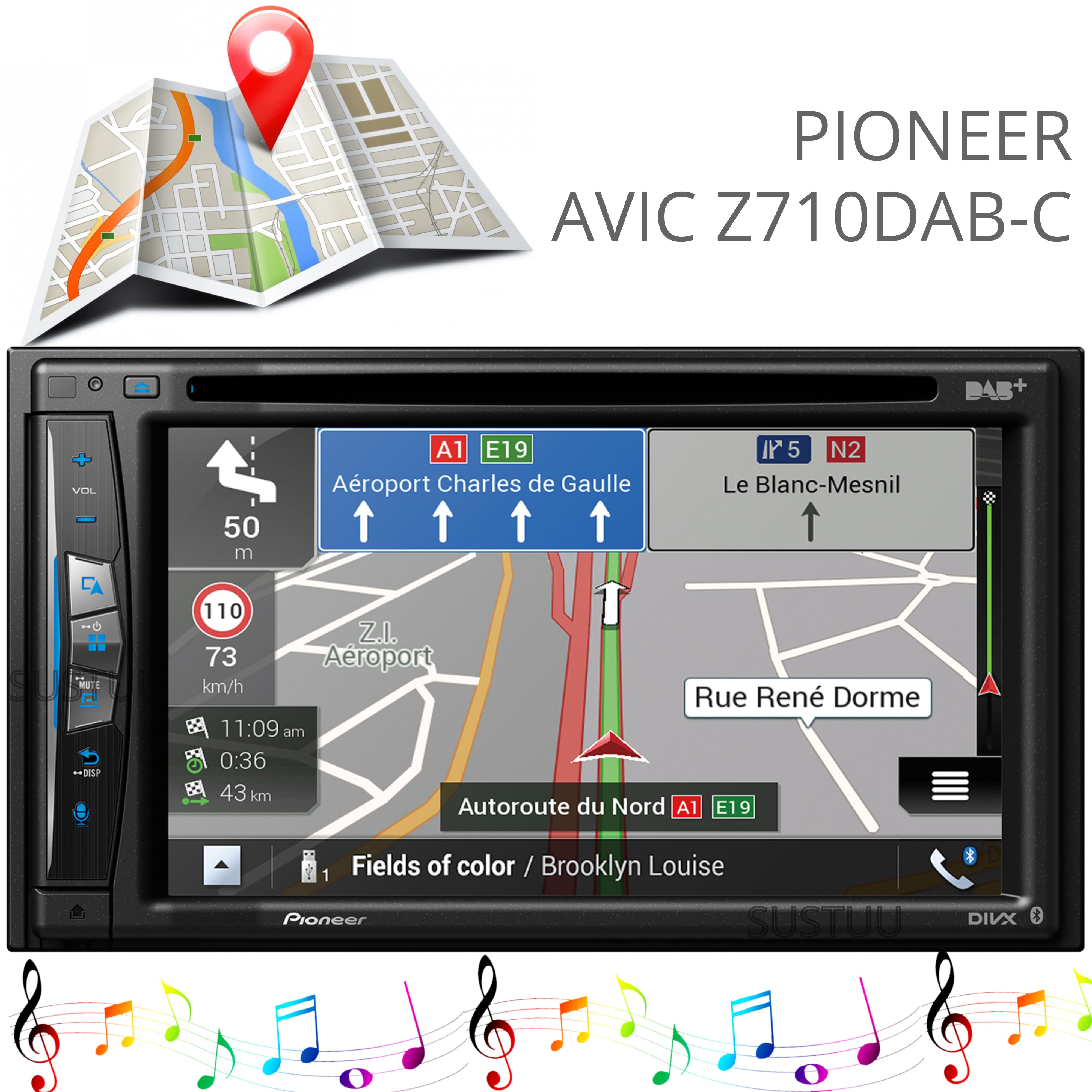 "Pioneer 6.2"" 2-Din Car GPS Navigation+Multimedia Player   WIFI/DVD/CD/MP3/USB/HDMI"