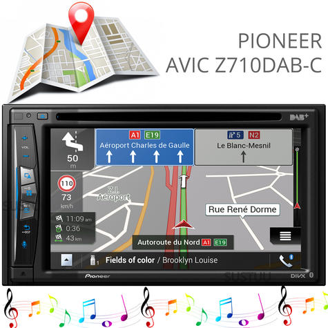 "Pioneer 6.2"" 2-Din Car GPS Navigation+Multimedia Player   WIFI/DVD/CD/MP3/USB/HDMI Thumbnail 1"