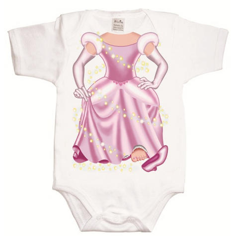 Just Add a Kid 'Cinderella Pink' Baby Short Sleeve Bodysuit | 100% Cotton | 12-18 Month Thumbnail 2