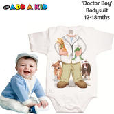 Just Add a Kid  'Doctor Boy' Bodysuit | Super Soft Material | Designer | 12-18mths