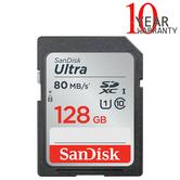 SanDisk 128GB Ultra SDXC Class 10 UHS-1 Memory Card | 80MB/s | For Digital Cameras