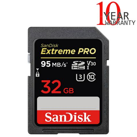 SanDisk 32GB Extreme PRO SDHC UHS-I Memory Card | Upto 95MB/s | For Digital Cameras Thumbnail 1
