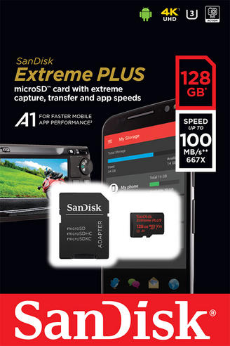SanDisk 128GB Extreme Micro SDHC Memory Card & Adapter | 100MB/s | For Action Cameras & Smartphones/ Tablets Thumbnail 5