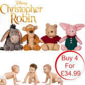 Disney Christopher Robin Movie Character Assortment | Baby/Kids Soft Plush Toy | 18cm | +0 Months