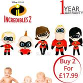 Disney Incredibles 2 Movie Characters Assortment | Baby/ Kid's Soft Plush Toy | 18cm | +0 Months