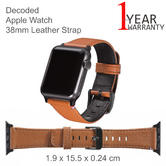Decoded Apple Watch 38mm Leather Strap | D5AW38SP1BN | Anti-Sweat Material | Brown