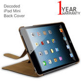 Decoded iPad Mini Slim Back Cover | D3IPAMBC1BN | Tablet Leather Sleeve Case | Brown