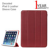 Decoded iPad 5 Leather Sleeve Case | iPad Air Flip/ Back Cover | Slim | D3IPA5SC1RD | Red