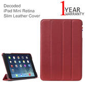 Decoded iPad Mini Retina Slim Leather Cover | Sleeve Case | D4IPAMRSC1RD | Red
