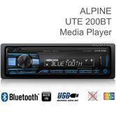 Alpine UTE 200BT Car Stereo | Single Din Radio | Media Receiver | Bluetooth | iPhone/iPod/Android