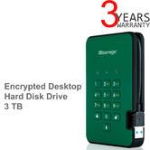 iStorage IS-DA2-256-3000-GN 3TB diskAshur2 Portable Encrypted HDD-Racing Green