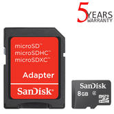 SanDisk 8GB Class 4 microSDHC Memory Card with Adapter | For Mobilephones/ Tablets/ Camera