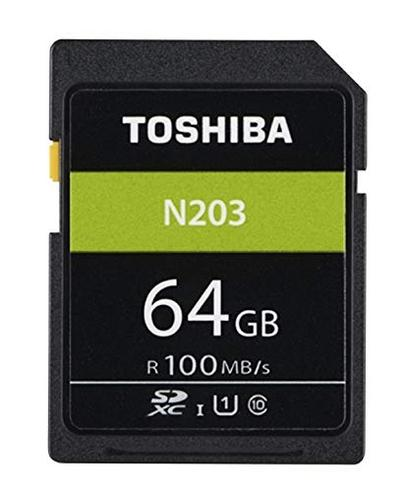 Toshiba 64GB N203 Class 10 Flash Memory Card with Adapter | 100MB/s | For Camera | THN-N203N0640E4 Thumbnail 2