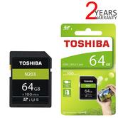 Toshiba 64GB N203 Class 10 Flash Memory Card with Adapter | 100MB/s | For Camera | THN-N203N0640E4