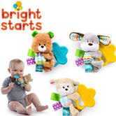 Bright Starts Taggies Chew and Soothe Pals | Baby's Colorful Soft Toy+Teether | +0m