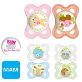MAM Nature Soft Silicon Baby Soother Dummy Pacifier c/w Sterilizer Box|0m+ 2Pk