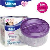 Milton Combi Steriliser 100% Watertight Dual Quick Sterilisation|BPA Free|Purple