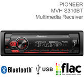 Pioneer Car Stereo | 1-DIN Mechless Radio | Media Player | Bluetooth | USB | Android | FLAC