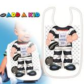 Just Add a Kid 'Most Wanted' Baby Bib | Toddler Spills & Drips Safty ? Feeding Time
