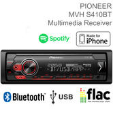 Pioneer Car Stereo | 1-DIN Mechless Radio | Media Player | Bluetooth | USB | iPhone-Android