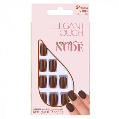 Elegant Touch Cocoa|False Nail|Beauty Accessories|Pack Of 24 Nail| Thumbnail 2