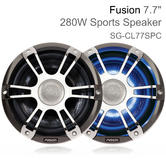 Fusion CL77SPC 7.7'' Marine 2 Way Signature Sports LED Speaker | IP65 | Chrome/Grill