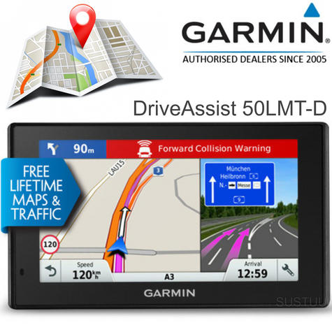 Garmin DriveAssist 50LMT-D | 5'' GPS SatNav + Dash Cam | UK & Ireland Lifetime Maps + Traffic Thumbnail 1