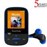 SanDisk Clip Sport 8GB Digital Media MP3 Player with FM Radio | MicroSD Slot | Blue