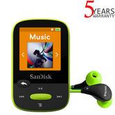 SanDisk Clip Sport 8GB Digital Media MP3 Player with FM Radio | MicroSD Slot | Lime