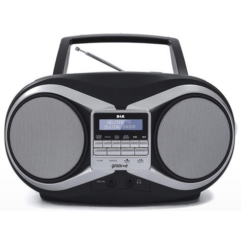 Groov-e Portable Boombox | Portable CD Player | DAB/FM Radio | GVPS753 | LCD Display | Black Thumbnail 2