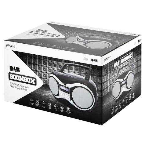 Groov-e Portable Boombox | Portable CD Player | DAB/FM Radio | GVPS753 | LCD Display | Black Thumbnail 4