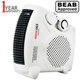 Lloytron F2003WH 2000w Fan Heater| 2 Heat Settings & Cool Blow| Auto Cut-off | White