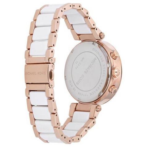 Michael Kors Ritz Ladies' Watch|Chronograph White Round Dial|Dual Tone Band|6324 Thumbnail 3