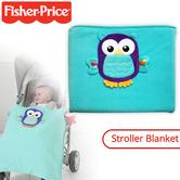 Fisher-Price Woodland Owl Attach To Stroller Blanket | Keeps Baby Warm On The Go