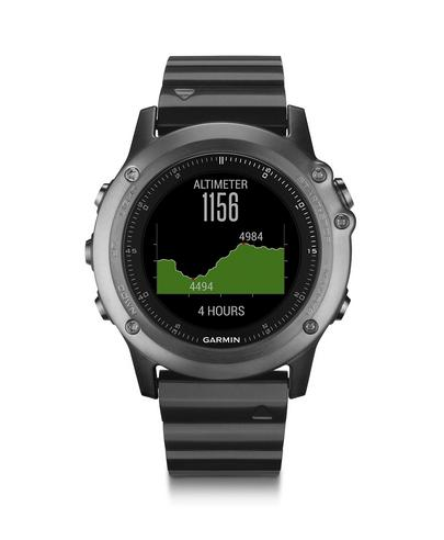 Garmin Fenix 3 Sapphire GPS Outdoor MultiSports Metal Strap ABC Smart Watch Thumbnail 4