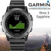 Garmin Fenix 3 Sapphire GPS Outdoor MultiSports Metal Strap ABC Smart Watch
