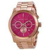 Michael Kors Runway Stainless Steel Pink Dial Rose Gold Tone Ladies Watch Mk5931